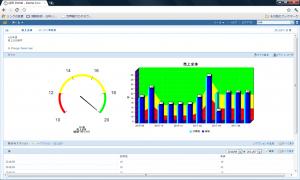経営可視化ポータル画面